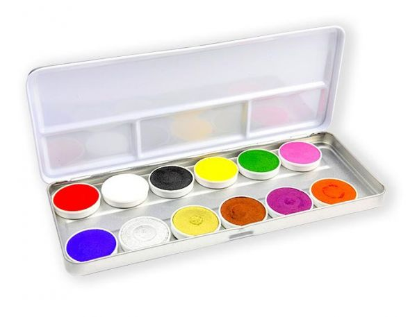 Superstar Face Paint palette with 12 colours