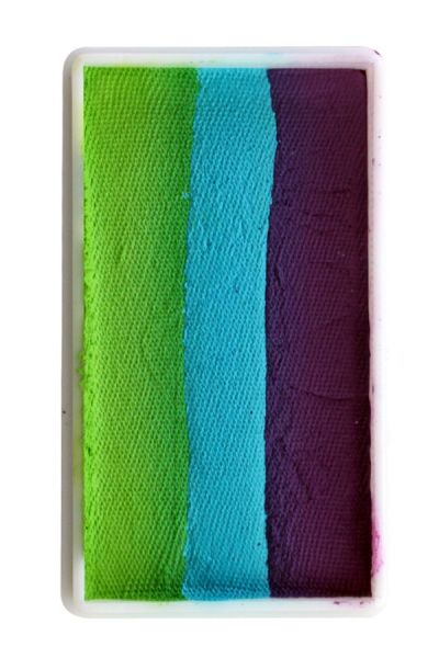 PXP One Stroke split cake purple turquoise green PartyXplosion