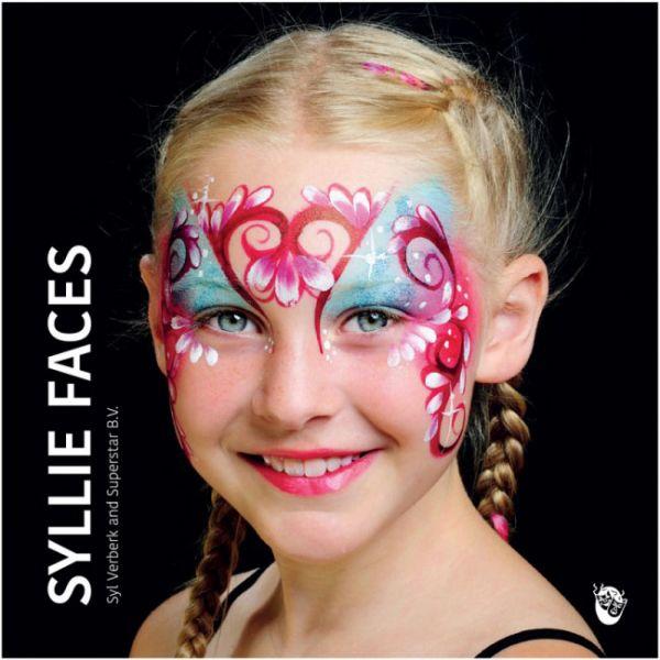 Facepainting book Syllie Faces Syl Verberk and Superstar
