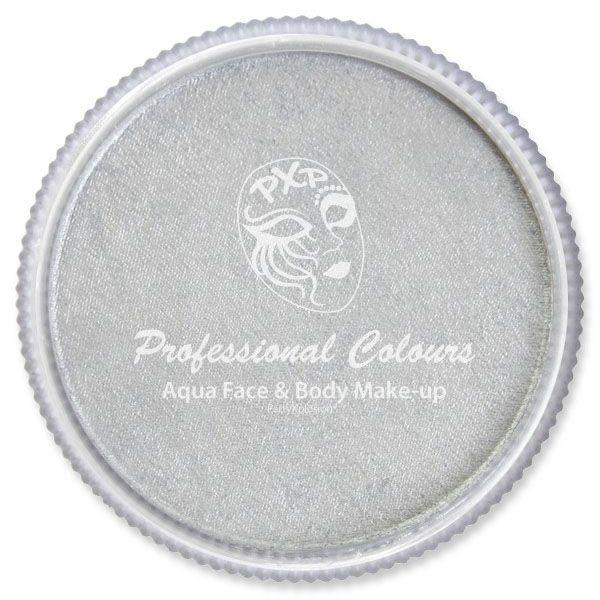 PXP Aqua face paint pearl silver PartyXplosion