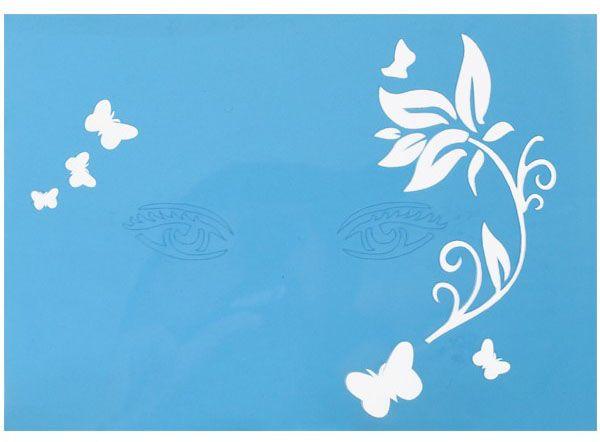 PXP Facepaint Stencils branch with leaves butterflies