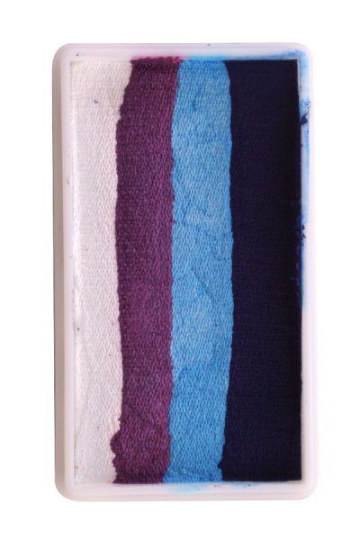 PXP One Stroke split cake white purple light blue dark blue PartyXplosion