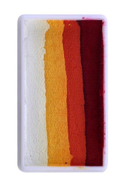 PXP split cake red orange yellow white PartyXplosion