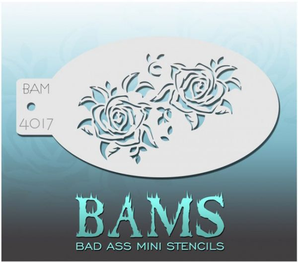 Bad Ass BAMS stencil 4017 Roses