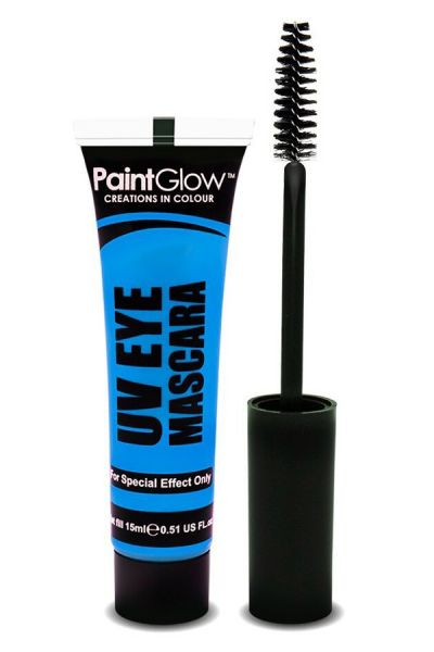 PaintGlow Glow in the dark mascara UV neon blue