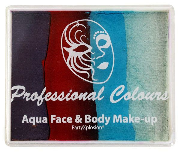 Aqua face & body paint Purple Blood Red Light Blue White