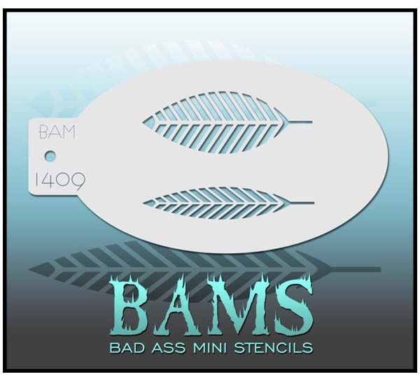 Bad Ass BAMS stencil 1409