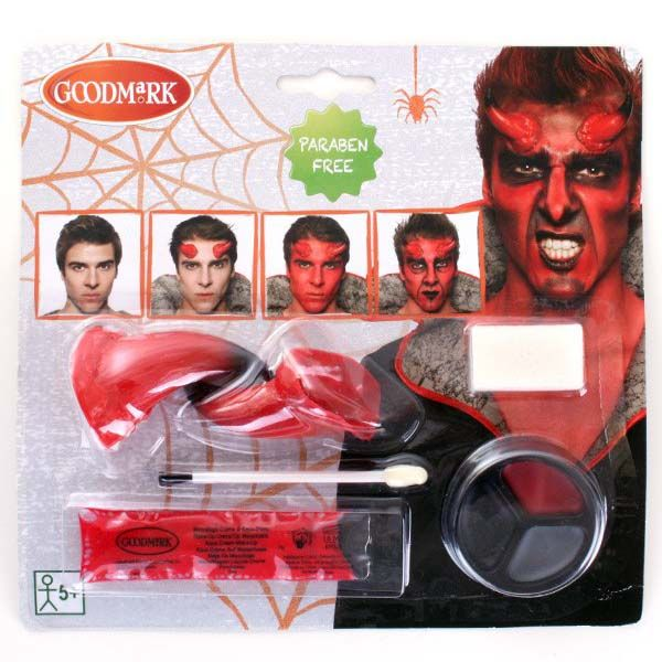 Face Paint set with devil nose for Halloween