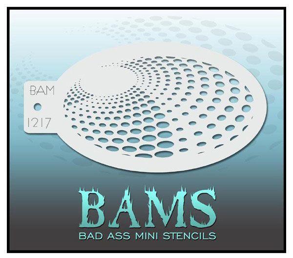 Bad Ass BAM face paint stencil 1217