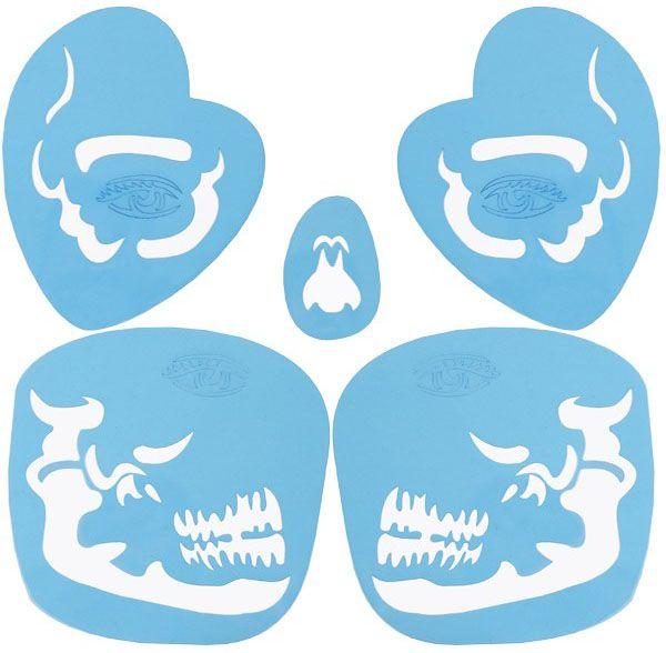 PXP Face Paint Stencils Tribal Skull