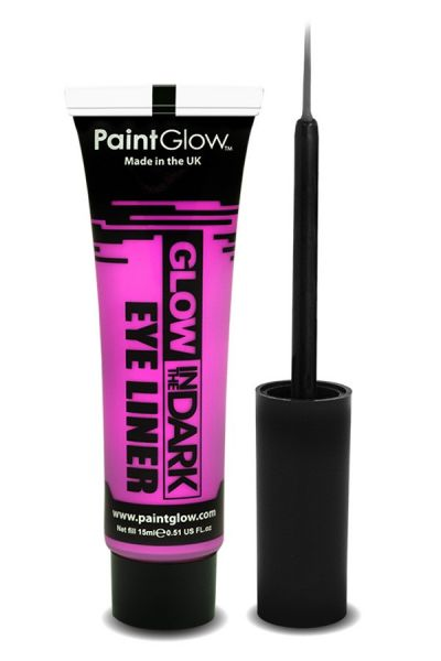 Paintglow Glow in the dark eyeliner UV neon pink