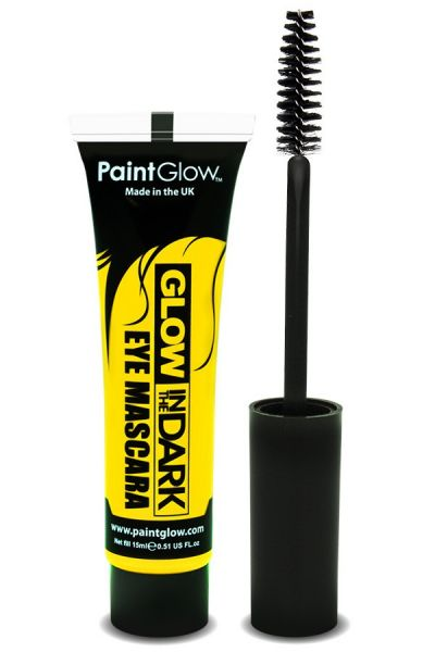 Glow in the dark mascara UV neon yellow