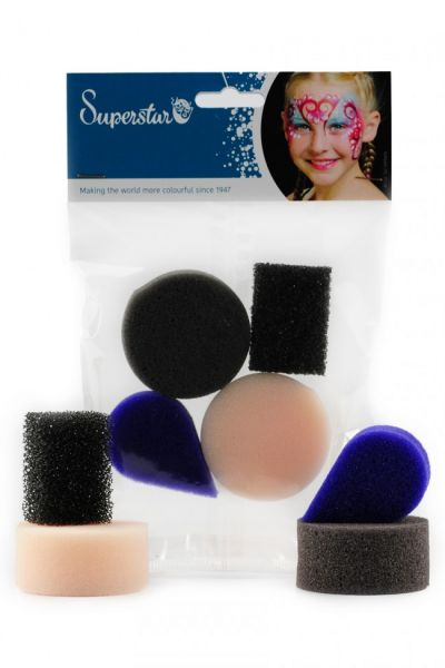 Superstar face paint sponges mix