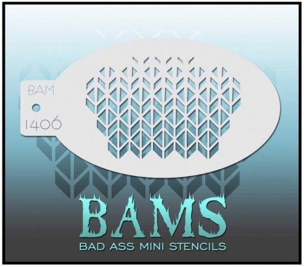 Bad Ass BAM stencil 1406
