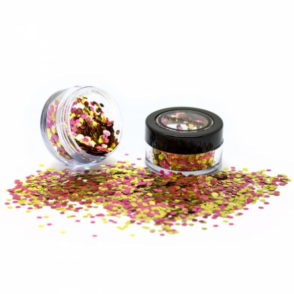 PaintGlow biodegradable cosmetic glitter mixes Rose Gold