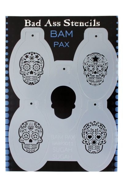 Bad Ass BAM PAX stencil 3011 Sugar skull Day of the Dead