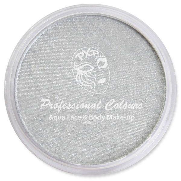 PartyXplosion Aqua face & body paint Pearl Silver