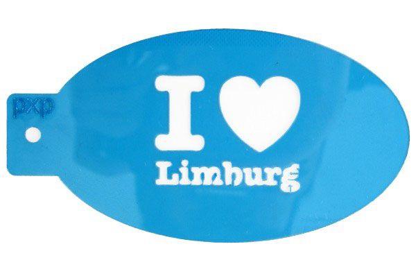 PXP face paint template I love Limburg