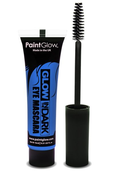 Glow in the dark mascara UV neon blue