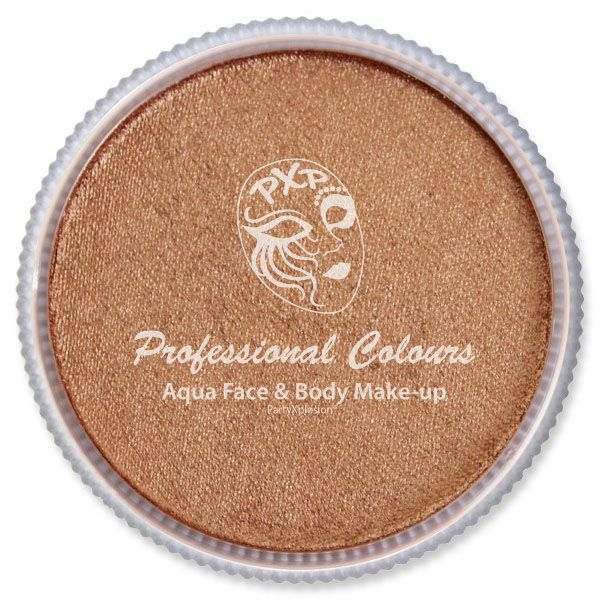 PXP Aqua metallic bronze face body paint PartyXplosion