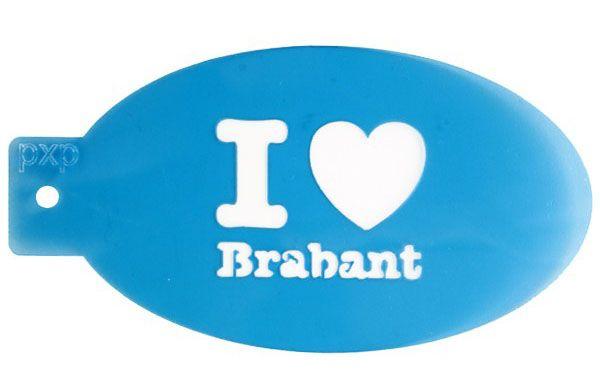 PXP face paint template I love Brabant