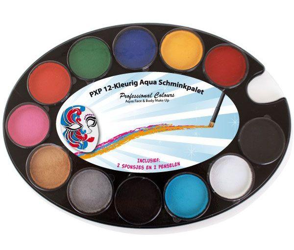 PartyXplosion 12-colours face paint Palette PXP